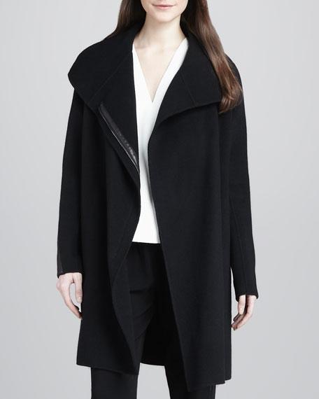Asymmetric Wool-Blend Coat