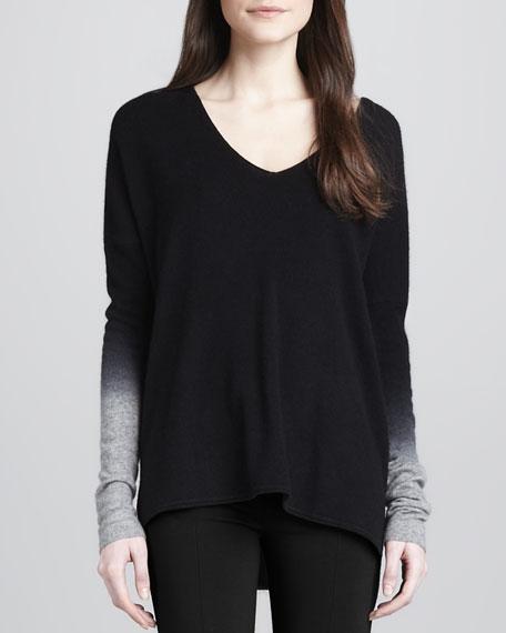 Dip-Dye Knit Sweater