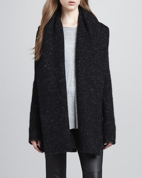 Speckled Tweedy Open Coat