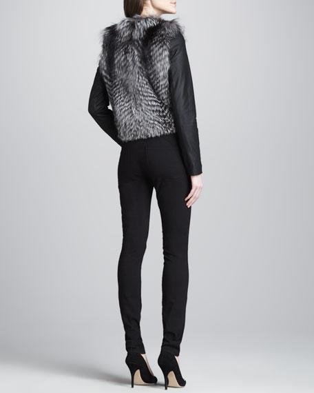 Zip-Pocket Skinny Pants