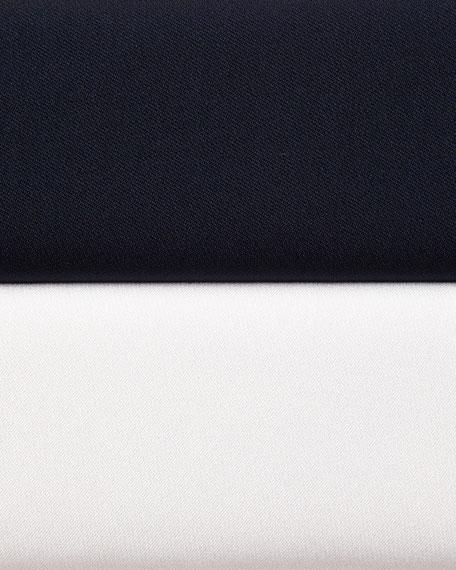 Tab-Sleeve Stretch-Silk Top