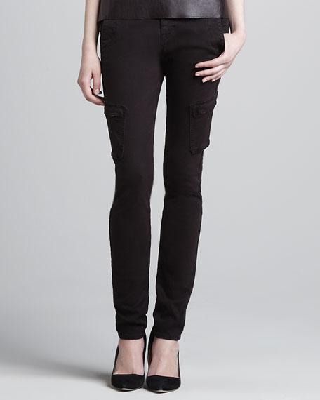 Slim Twill Cargo Pants