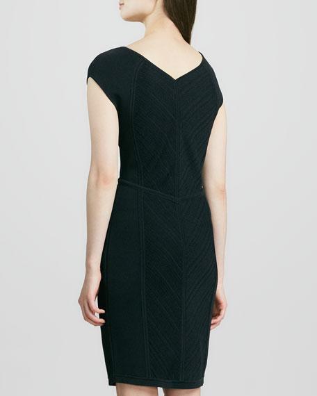 Cressida V-Neck Cap-Sleeve Dress