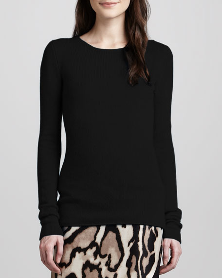 147f9e78f3f3 Diane von Furstenberg Niseko Long-Sleeve Cashmere Sweater