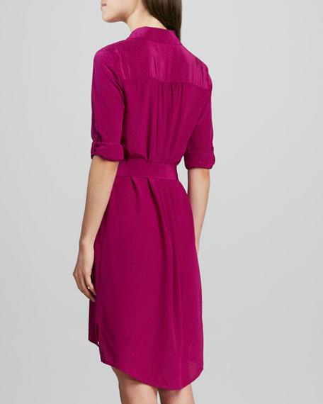 Prita Button-Front Shirtdress
