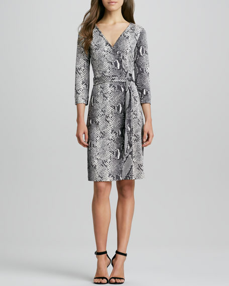 New Julian Two Snake-Print Silk Jersey Dress