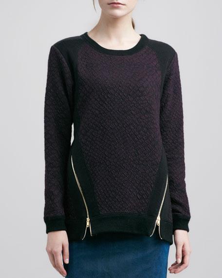 Zipper-Hem Pullover