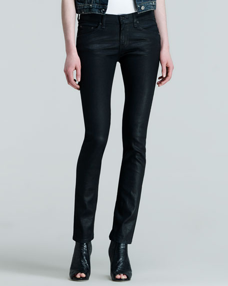 The Skinny Black Coated Jeans