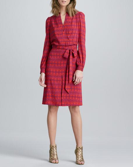 Judi Printed Tie-Waist Dress