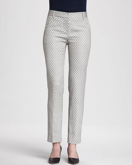 Isabella Printed Cropped Pants