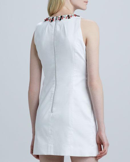 Astrid Embellished-Neckline Dress