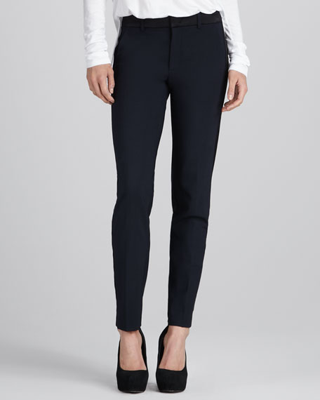 Satin-Trim Tuxedo Pants