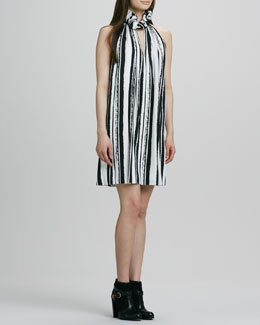 Rachel Zoe Muse Striped Ruffle-Halter Dress