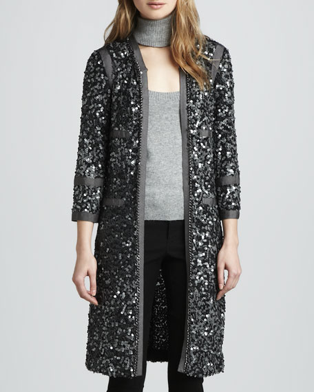 Sequin Long Coat