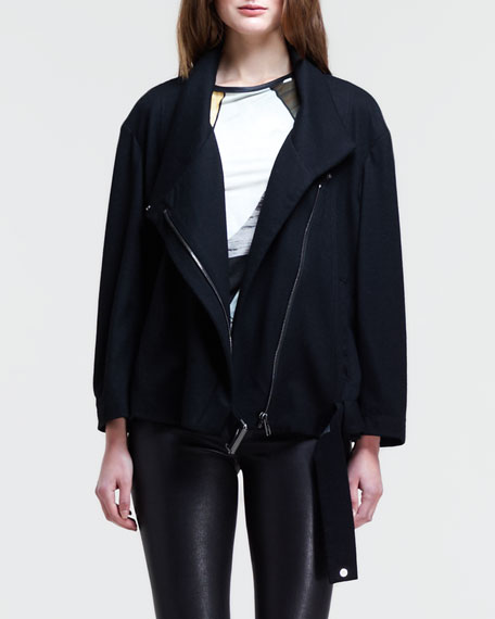 Sonar Belted-Hem Wool Jacket