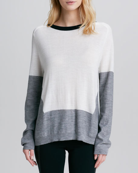 Catalina Colorblock Slit-Back Top
