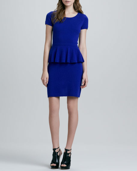 Cashmere Peplum Dress