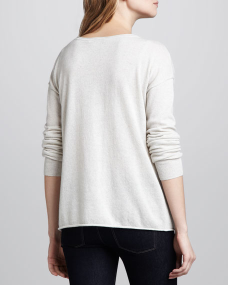 Peace-Sign Cashmere Sweater