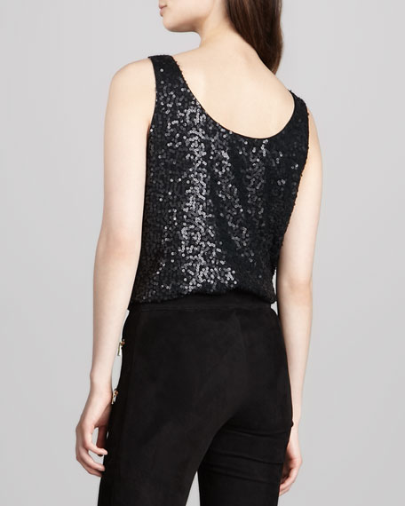 Patrisha Sequined Tank Top