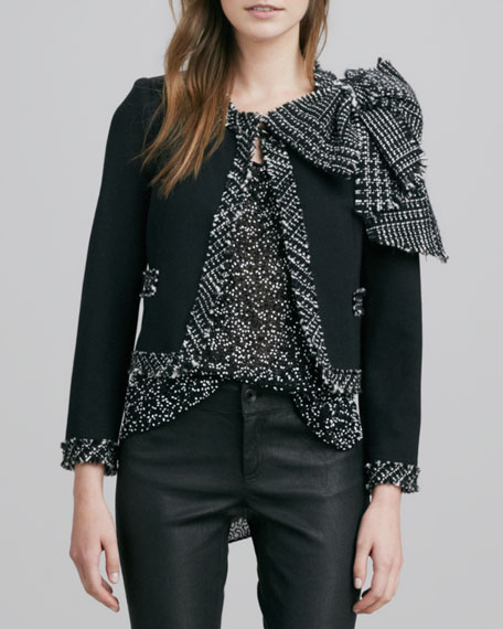 Wendi Bow-Trimmed Jacket