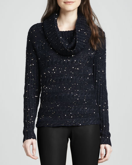 Meek Sequined Turtleneck Sweater