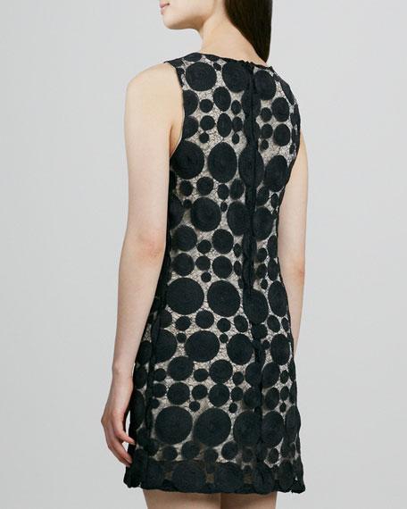 Dotted Mesh Sleeveless Dress