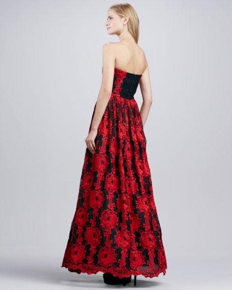 Kassandra Strapless Silk Gown