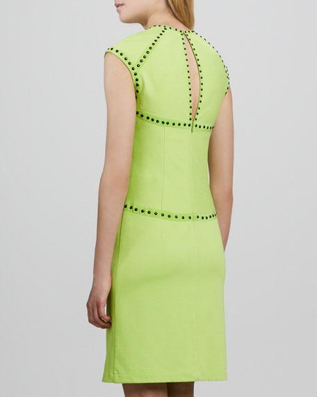 Trampoline Studded Cutout Dress