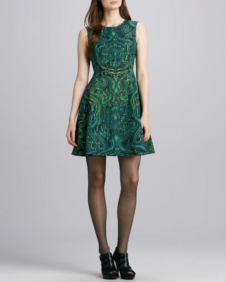 Mystical Printed Sleeveless Dress
