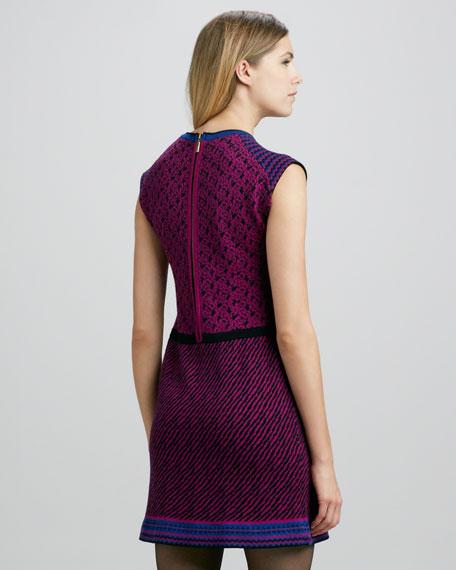 Zanafi Mixed-Knit Dress