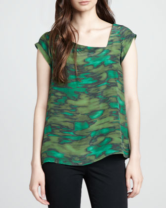 Opal Printed Silk Top