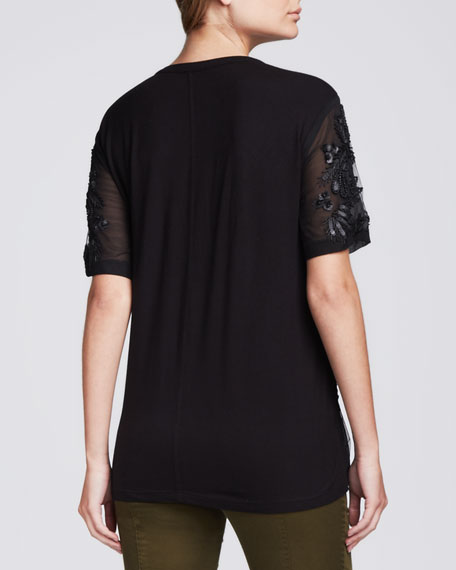 Constellation Sheer Beaded Top