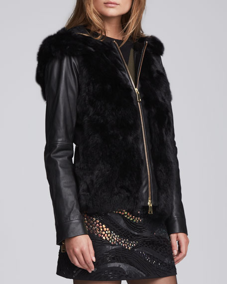 Galactic Fur/Leather Jacket