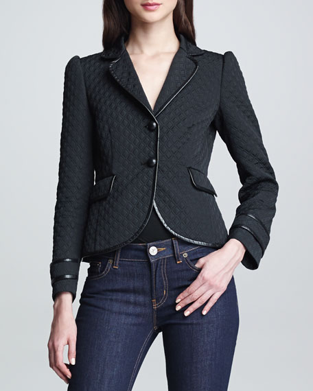 Padded Diamond Matelasse Jacket