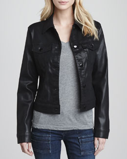 J Brand Jeans Classic Coated Jacket