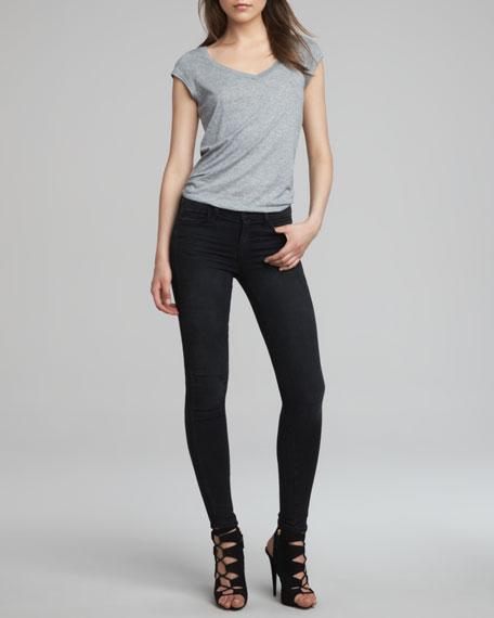 Mid-Rise Super Skinny Jeans, Graphite