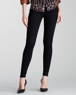 J Brand Jeans Maria Photo Ready Thunderhead High-Rise Skinny Jeans