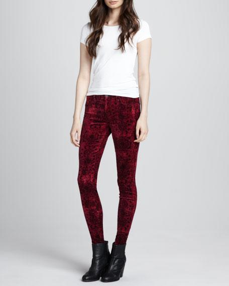 815 Gaya Velvet Mid-Rise Skinny Jeans
