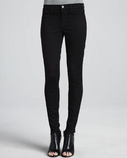 J Brand Jeans Luxe Sateen Skinny Jeans, Black