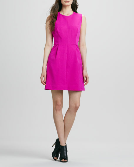 Coco Pleated Twill Dress