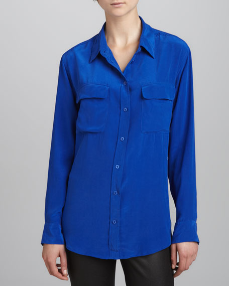 Signature Vintage Wash Two-Pocket Blouse