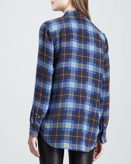 Reese Punk Plaid Blouse