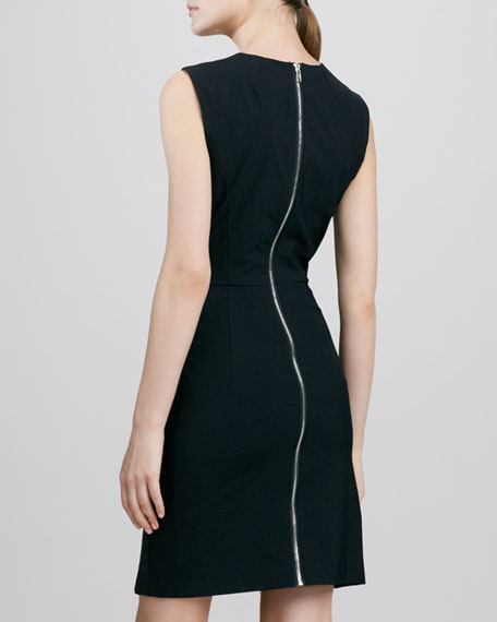 Lisa Leather Combo Dress