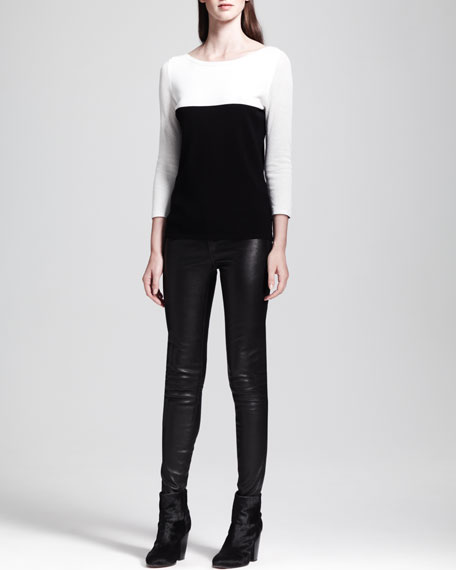 The Skinny Leather Jeans, Black