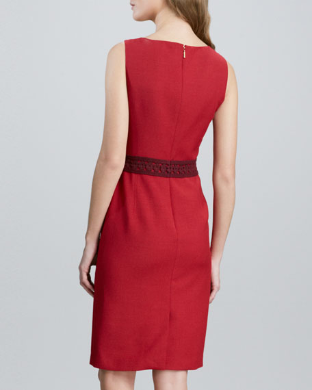 Kari Sleeveless Crepe Dress