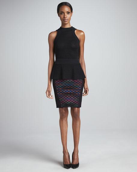 Diamond Horizon Pencil Skirt
