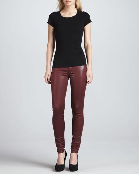 High-Shine Skinny Pants