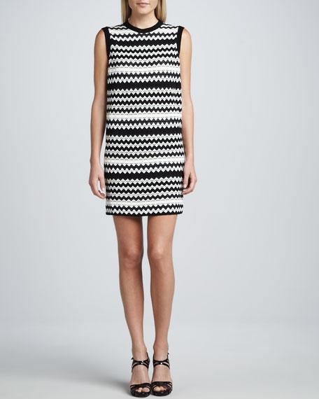 Tubular Zigzag Shift Dress
