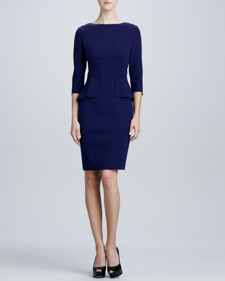 Maura Peplum Sheath Dress