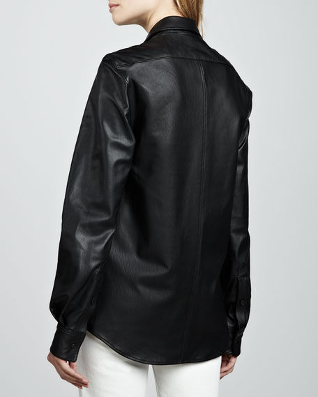 Will Leather Button-Down Shirt